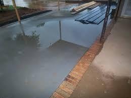 new concrete porch standing water rain water 008 jpg