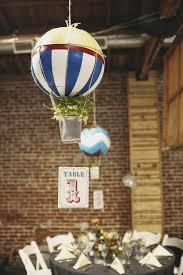 DIY Hot Air Balloon floating centerpieces