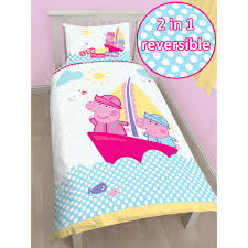Peppa Pig Bedroom Peppa Pig Nautical Single Duvet Cover And Pillowcase Set Bedroom