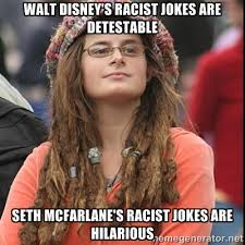 walt disney's racist jokes are detestable seth mcfarlane's racist ... via Relatably.com