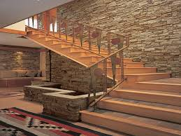 faux stone staircase