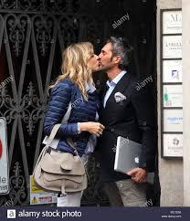 Milan, Natasha Stefanenko and husband Luca Sabbioni in the ...