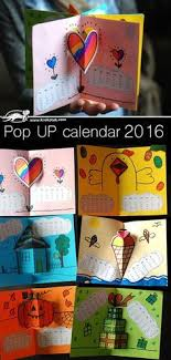 2018 pop up calendar books for kids includes templates and calendar printables