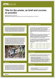 Informational Poster Sample Layout Research Poster Services Resources Eth Zurich