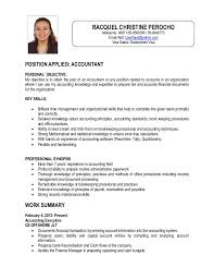POSITION APPLIED: ACCOUNTANT PERSONAL OBJECTIVE: My objective is to attain  the post of an ...