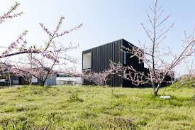 courtyard house in peach garden