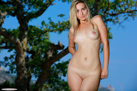Amaly Rolling Down Blue Underwear Tender Skin Blonde And Her Buxom.