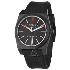 locman 201bkbkpvbk watches locman men s sport stealth watch