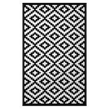 nirvana black white lightweight indoor outdoor reversible plastic rug