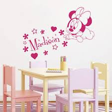 wall decal name vinyl sticker decals minnie mouse home decor des