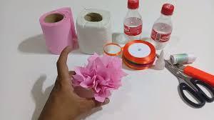 How to Make Flower Vase using Tissue Paper with Plastic Bottles