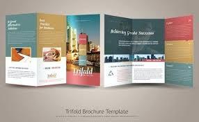 Fold Flyer Template Images Pixel Design Tri Brochure