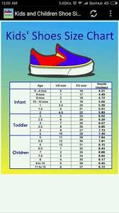 toddler shoe size children shoe size chart for android free download and software