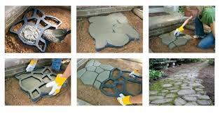 how to make a concrete walkway project