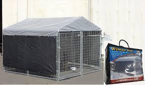10 x 10 dog kennel cover heat wind screen outdoor yard garden pet winter protect