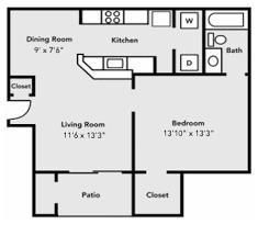housing floor plans. 1x1 D Floor Plan Housing Plans