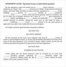 7+ Apartment Rental Agreement Templates | Sample Templates