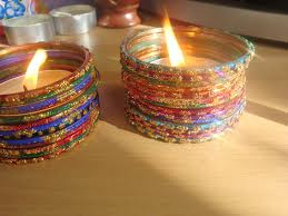 Simple Candle Decoration Glass Bangle Candle Holder 3 4 R Pinterest Bangles