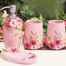Pink Bathroom Accessories Bathroom Decor