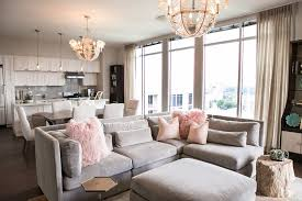 atlanta formal living room design transitional with pink accents l listed chandeliers great