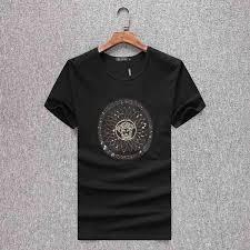 Buy Designer T Shirts In Bulk Wholesale Men 2019 Summer Mens Designer T Shirt European Style Velvet T Shirt Round Neck Cotton Short Sleeves Male And Female T Shirts Humorous T