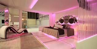 romantic master bedroom ideas. Sparkling Pink LED Strip Lighting For Romantic Master Bedroom Ideas With Unique Chaise Lounge Using Modern Interior Design