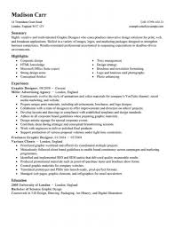 Graphic Designer Career Objective Graphic Design Cv Examples