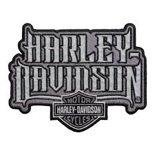 harley davidson spiked text reflective patch harley patches