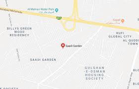 saadi garden hot ideal location corner plot