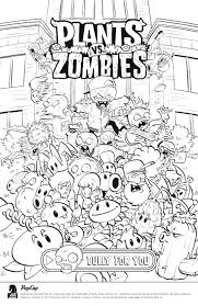 Plants Vs Zombies Coloring Page Pages Peashooter 2 Snow Pea Fi