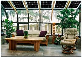 Outdoor Living:Beautiful Sunroom Design With Frame Glass Door And Frameless  Glass Window Also Modern