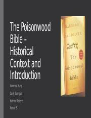 the poisonwood bible documents course hero group 4 historical context of the poisonwood bible