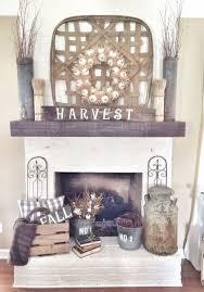 Fall Autumn Halloween Home Decor Fireplace Mantle Ideas by I Heart Shabby  Chic 2016 | I