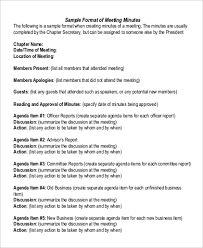 Examples Of Minutes Taken At A Meeting Sample Meeting Minute 15 Examples In Word Pdf Google