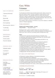 cv for volunteer position