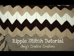 Ripple Afghan Patterns Simple Crochet Ripple Stitch Afghan Tutorial Crochet Jewel YouTube