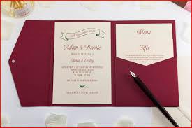 pocket fold invitations pocket fold invitations 71052 vine wedding invitation in deep red pocketfold bossa vine