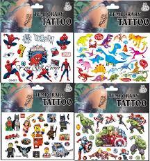Cartoon Tattoo Boys Design Temporary Tattoo Assorted Tattoo Stickers