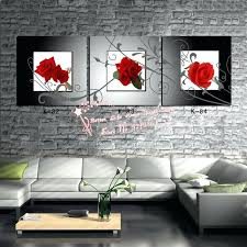 black white red wall art modern wall art home decoration printed oil painting pictures no frame black white red wall art