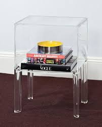 acrylic bedside table. Modren Acrylic 1Shelf Clear Acrylic Lucite Bedside Table With