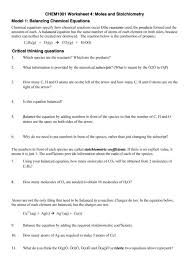charming introduction to balancing chemical equations worksheet
