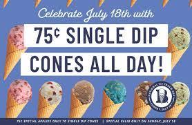 offering 75 cent ice cream cones ...