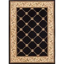 well woven timeless fleur de lis black 9 ft x 13 ft formal area rug 36238 the home depot