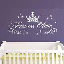 home décor custom crown name wall decal