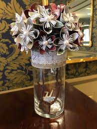 Paper Flower Wedding Centerpieces Centerpiece Of Paper Flowers For Wedding Or Event Craft