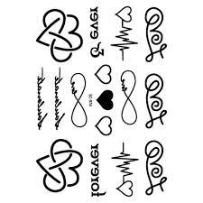 Nejnovější Taty Srdce Dopis Cardiogram Vzory Vodotěsné Falešné Dočasné Tetování Samolepky At Vova