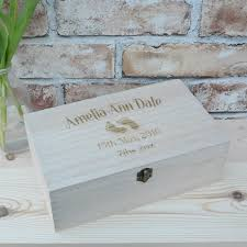 personalised wooden baby keepsake box
