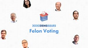 2020 Candidates Views on Felon Voting: A Voter