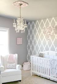 best and newest crystal chandeliers for baby girl room for beautiful gray and pink nursery features