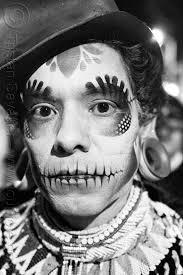 airbrush stencil skull makeup dia de los muertos san francisco